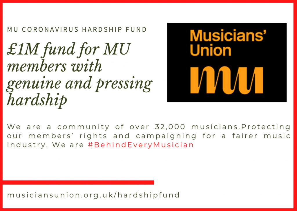 Musicians Union mental health support image